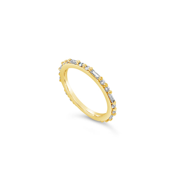 Baguette & Round Diamond Eternity Band