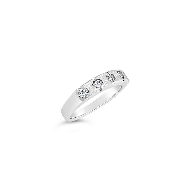 Five Diamond Satin Ring
