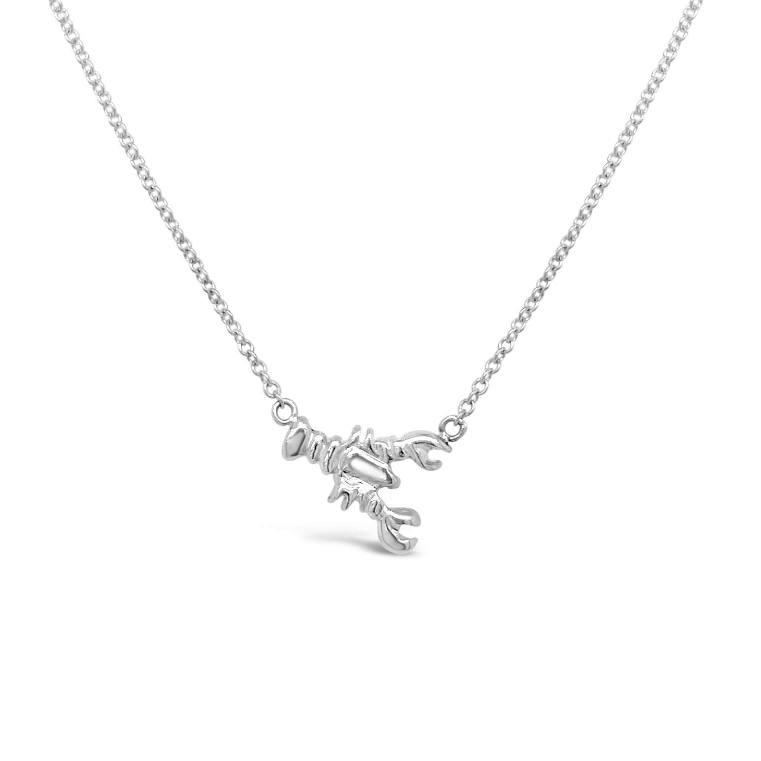 Silver Tiny Lobster Necklace