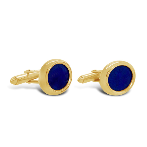 Oval Lapis Cufflinks
