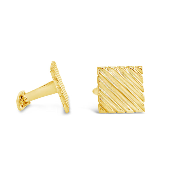 Square Ribbed Cufflinks