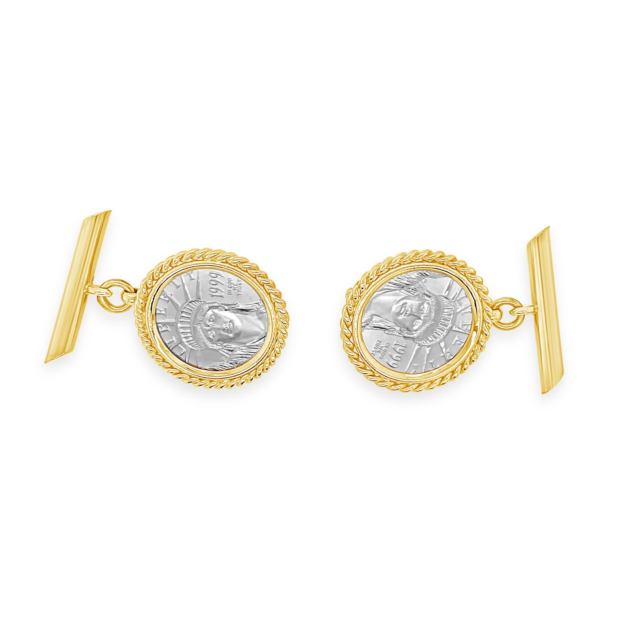 Platinum 1999 Coin Cufflinks