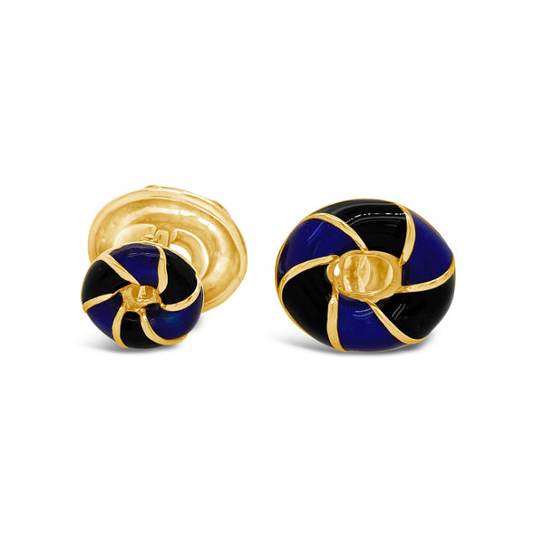 Blue & Black Enamel Cufflinks