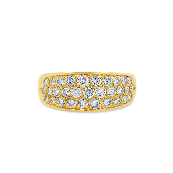 Wide Pavé Diamond Ring