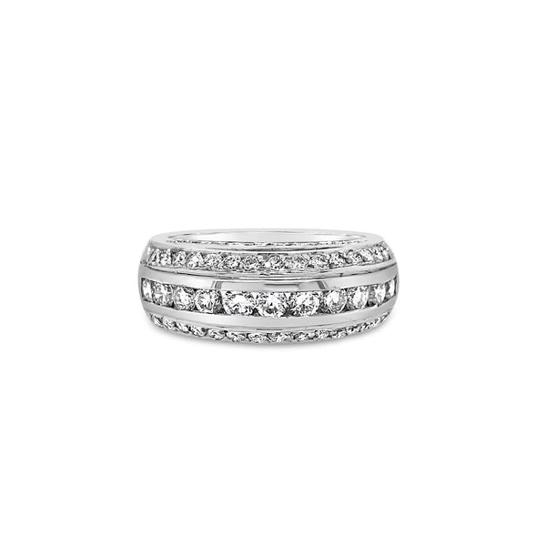 Diamond Double Dome Ring