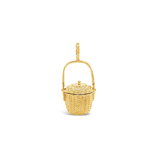 Lidded Nantucket Basket Pendant