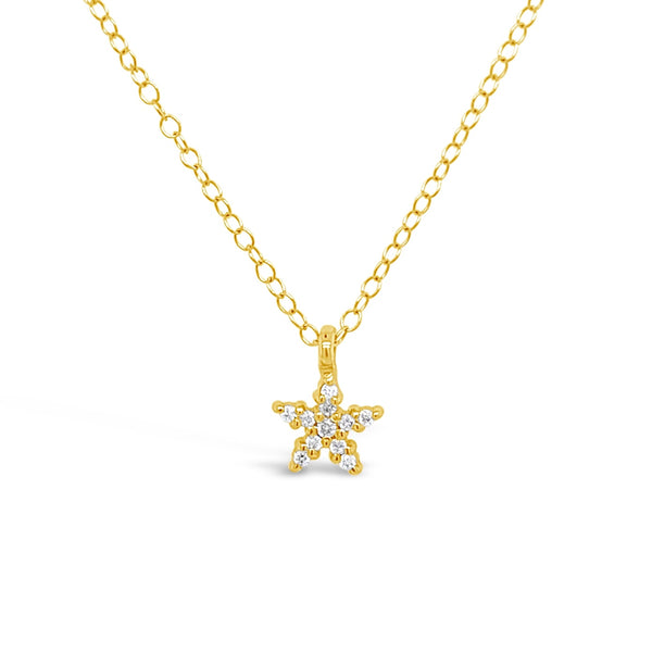 Tiny Diamond Starfish Necklace