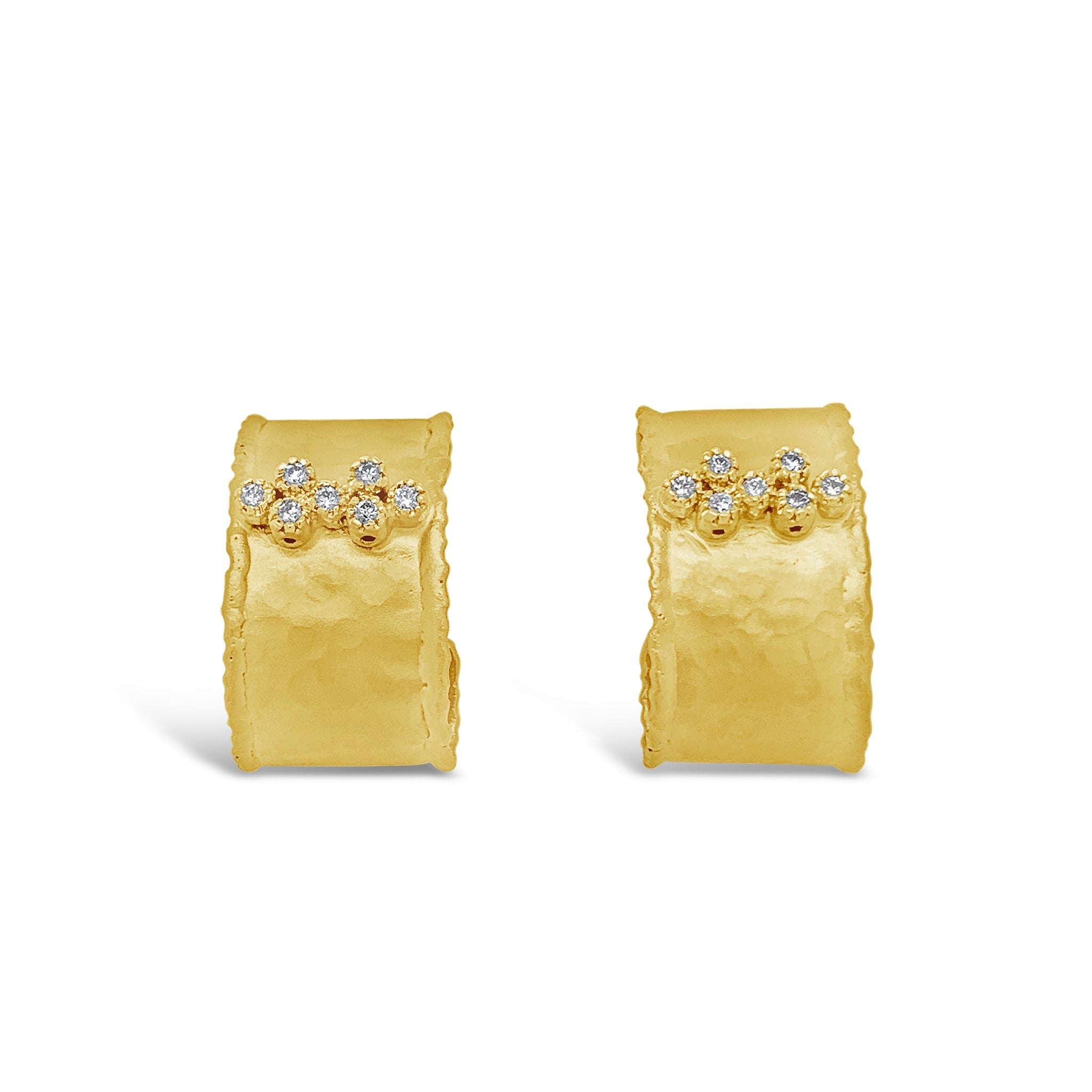 Diamond & Gold Bubble Earrings
