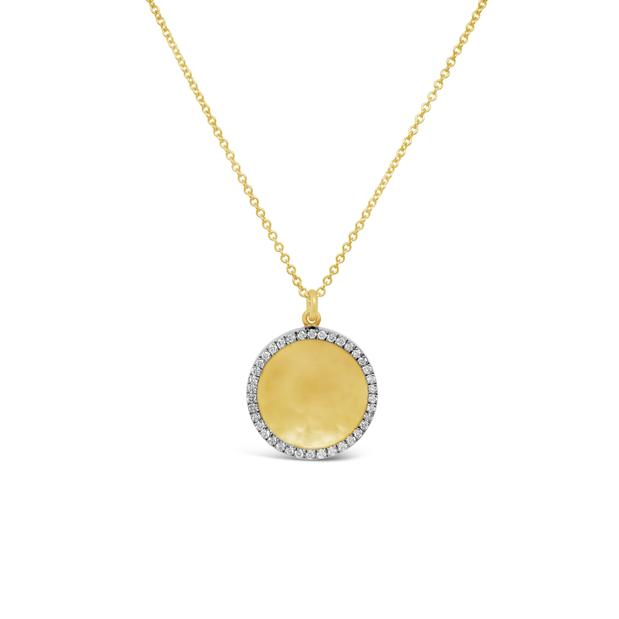 Gold & Ruthenium Diamond Circle Necklace