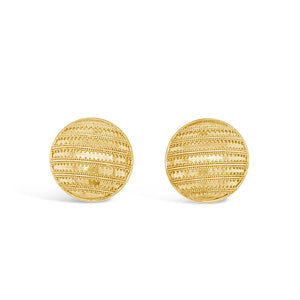 22 Karat Gold Dome Earrings