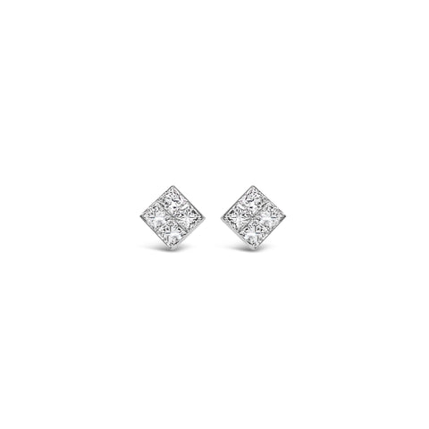 Diamond Invisible-Set Studs
