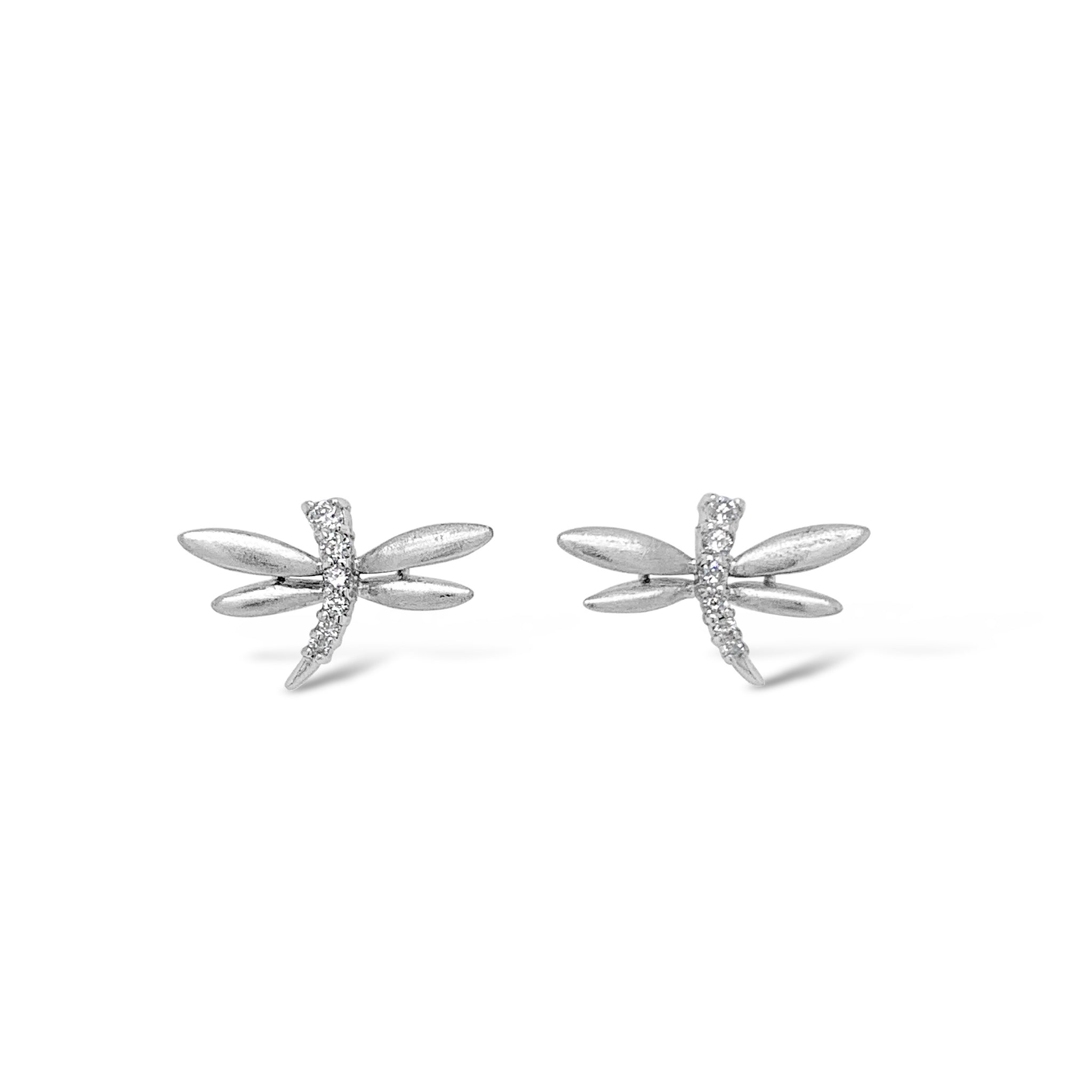 Diamond Dragonfly Studs