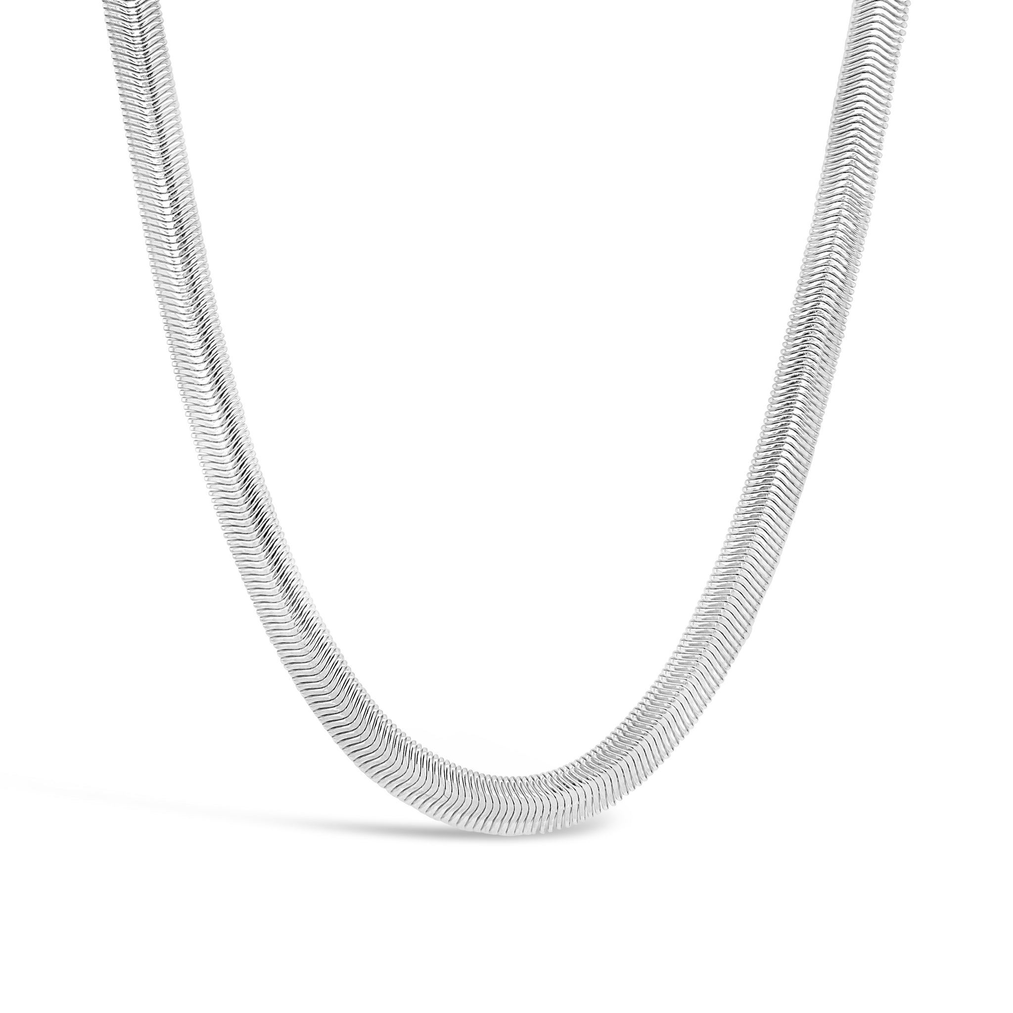 Wide Flat Snake Necklace