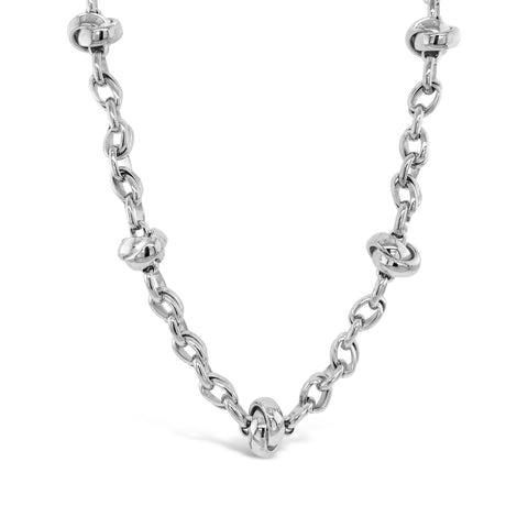 Silver Knot Link Necklace