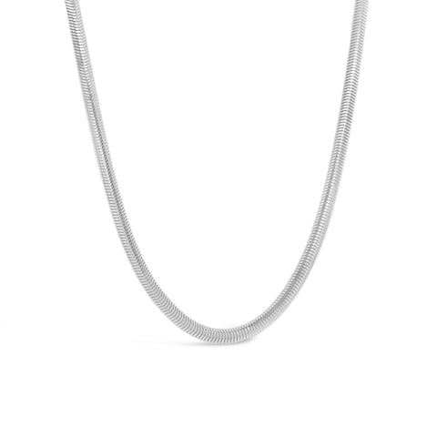 Silver Flat Snake Necklace