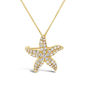 Medium Diamond Starfish Necklace