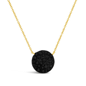 Black Diamond Disc Necklace
