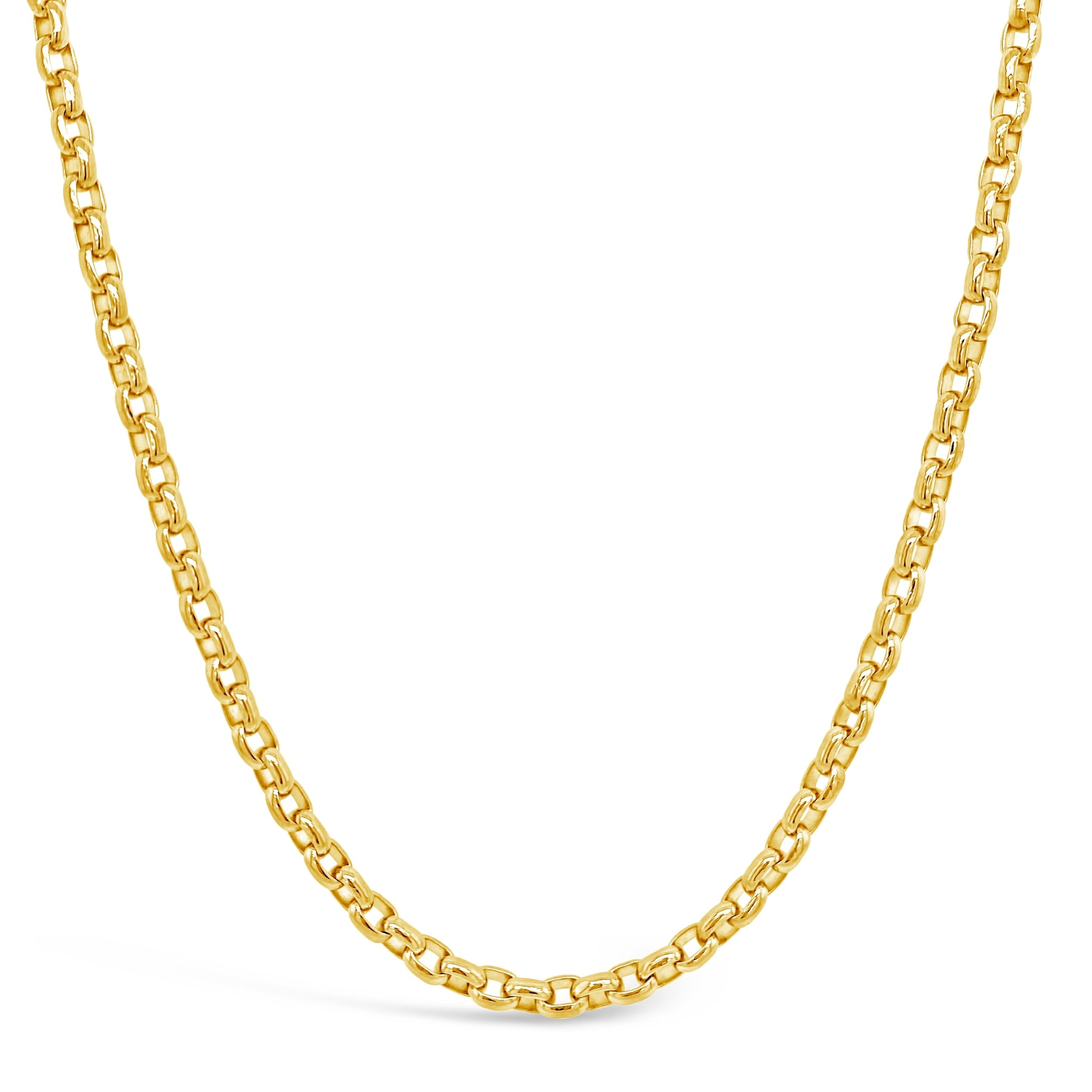Gold Solid Link Necklace