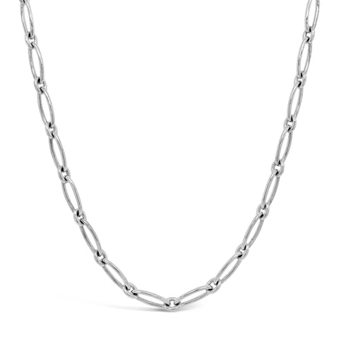 Elongated Oval Link Necklace
