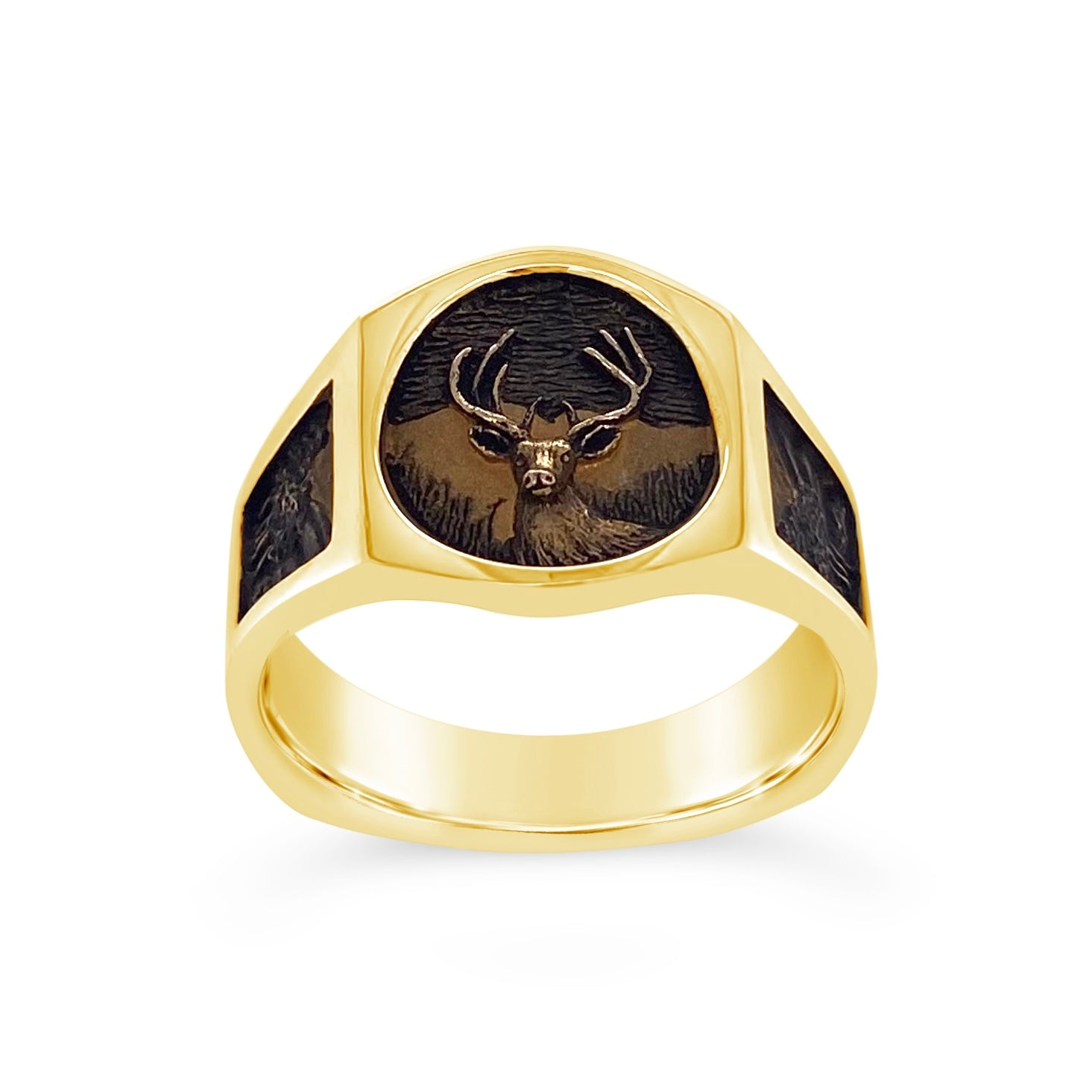 Carved Deer Ring