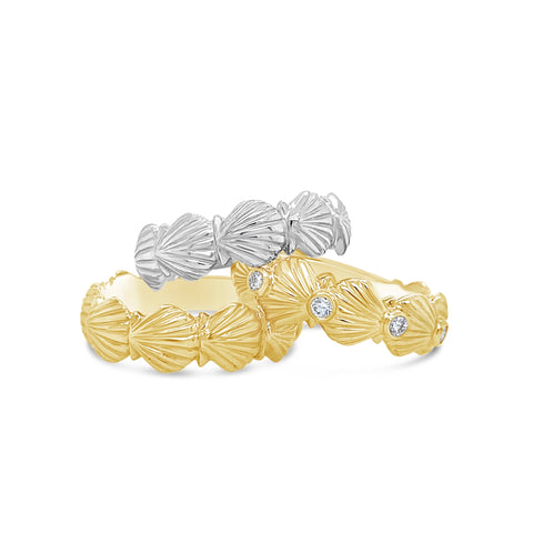 Scallop Shell Band Ring