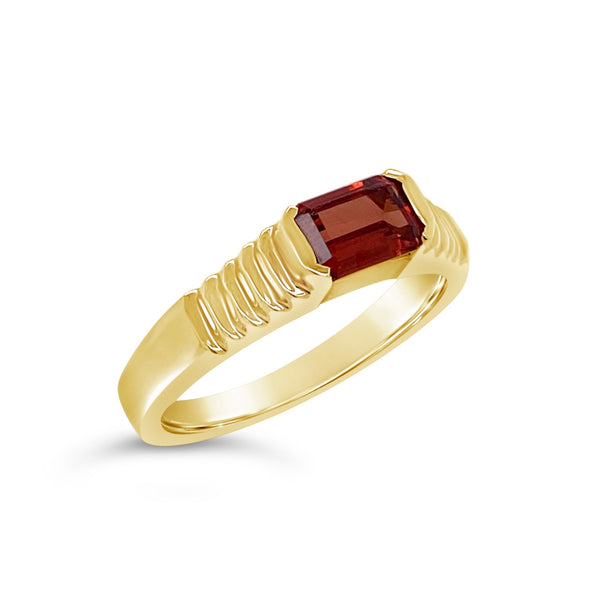 East-West Citrine Ring