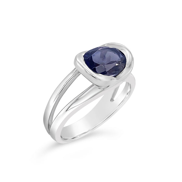 Iolite East-West Ring