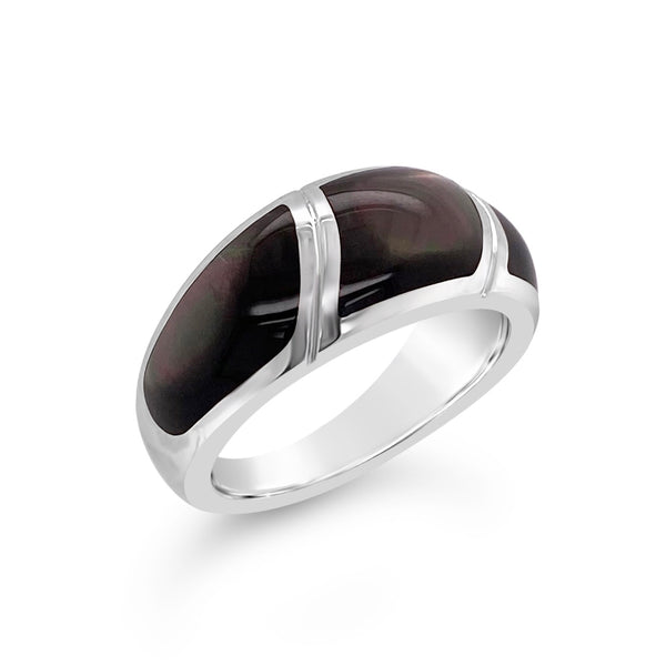 Black Mother-of-Pearl Inlay Ring
