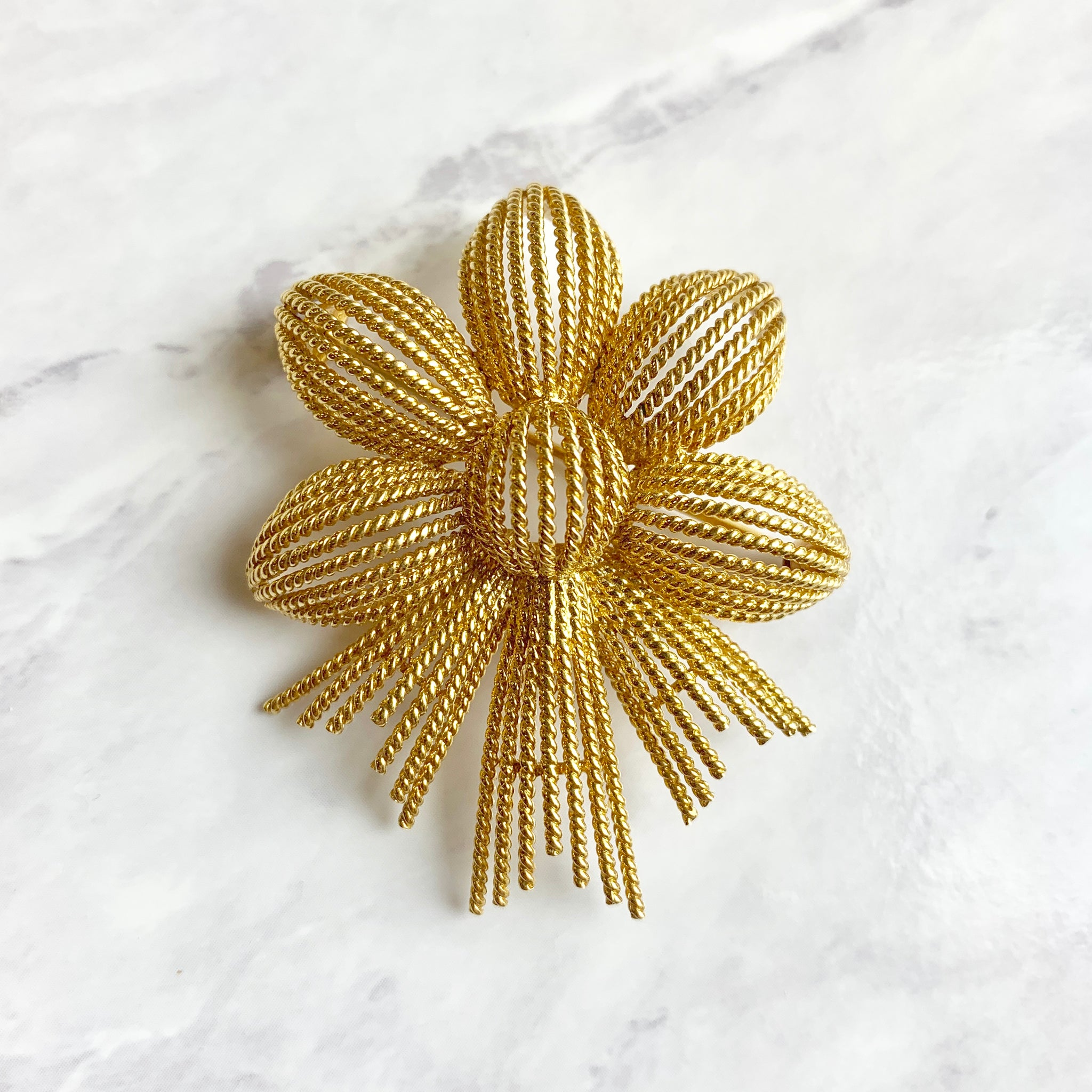 Tiffany & Co. Twisted Wire Flower Pin