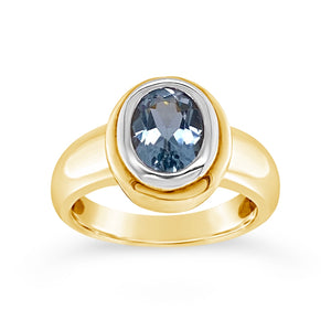 Blue Topaz Bezel Ring