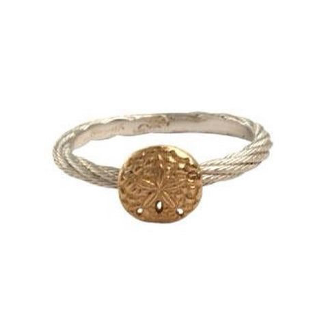 Stackable Sand Dollar Ring