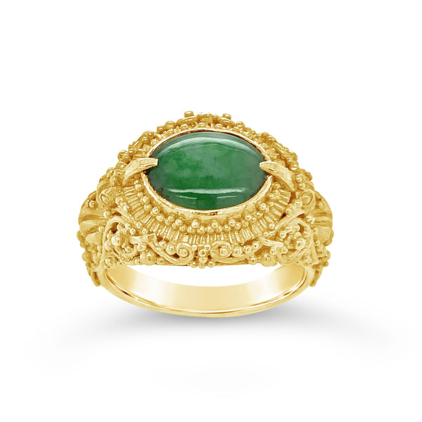 "Jade ""Bird of Paradise"" Ring"