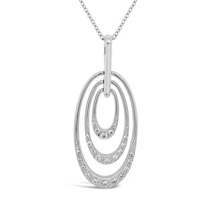 Diamond Graduated Ovals Pendant