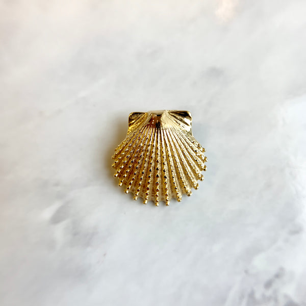 Small Knobby Scallop Shell Pendant