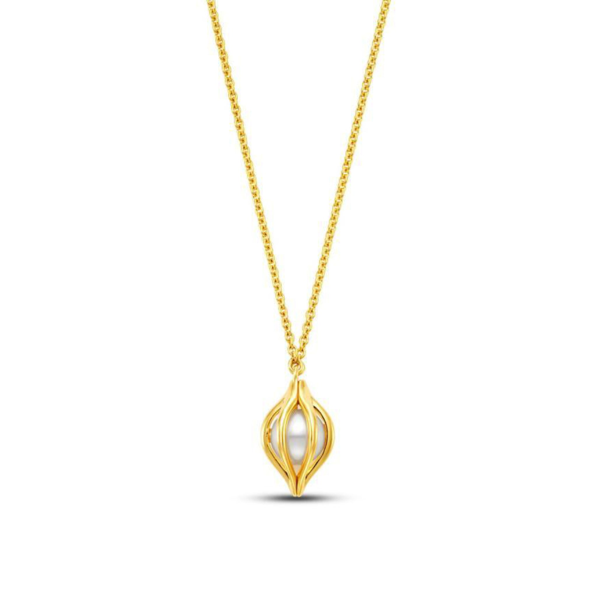 Cestino Tulip Pearl Necklace