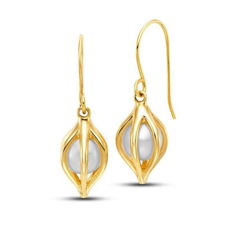 Cestino Tulip Pearl Earrings