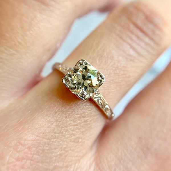 1.48 Carat Vintage Diamond Solitaire Ring