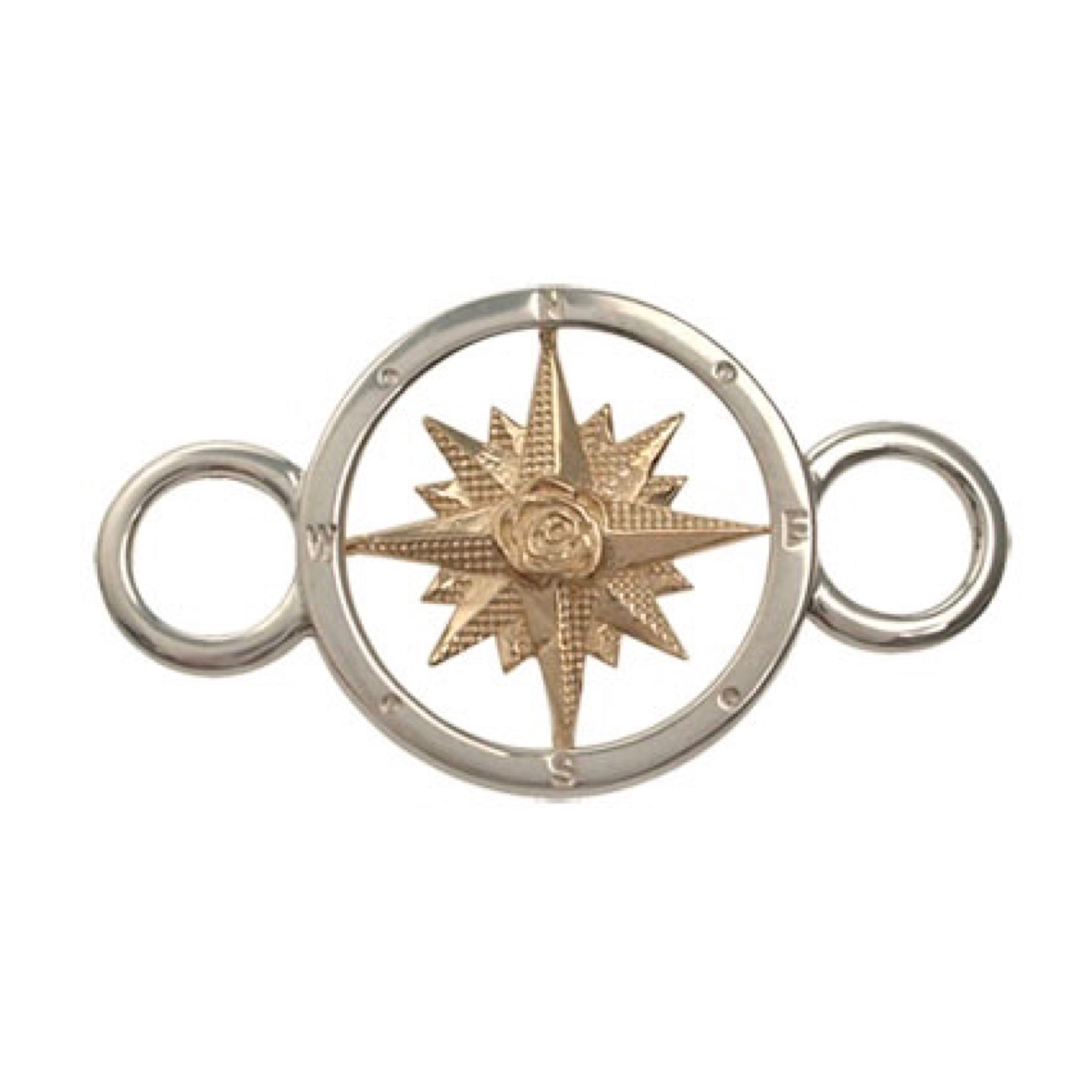 Gold & Silver Compass Rose Bracelet Top