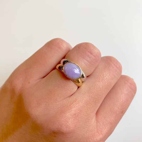 Two-Tone Lavender Jade Ring