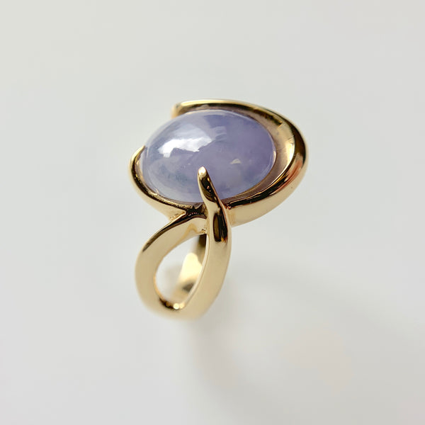 Lavender Jade Freeform Ring