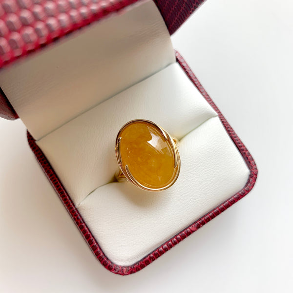 Honey Jade Ring