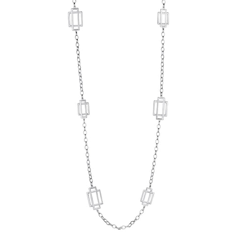 Trafalgar Grid Link Necklace