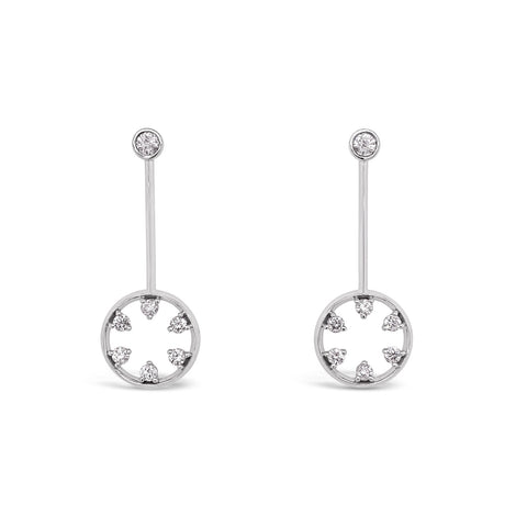 Starwheel Diamond Drop Earrings