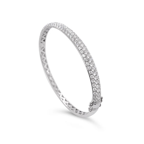 Pavé Diamond Hinged Bangle Bracelet