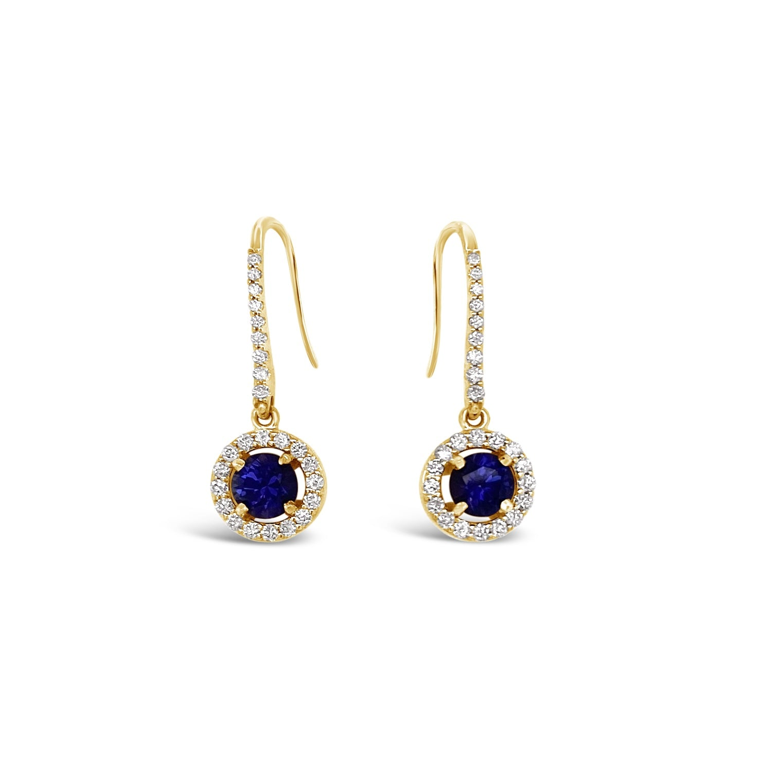 Color Change Sapphire & Diamond Drop Earrings