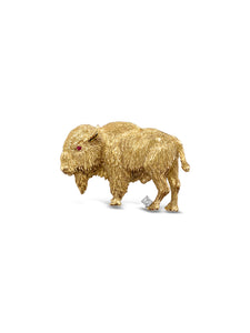 Gold Buffalo Pin