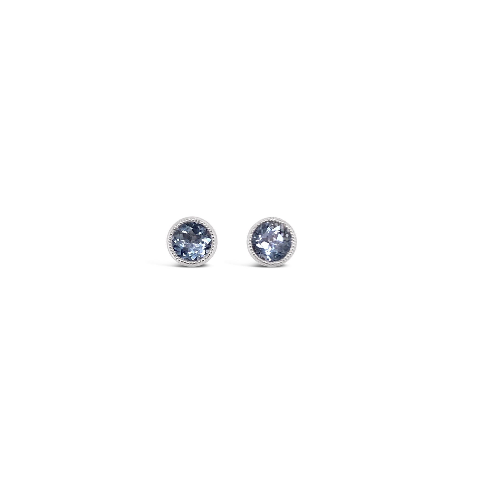Aquamarine Mini Studs