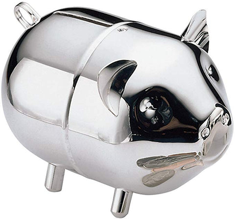 Silverplate Piggy Coin Bank