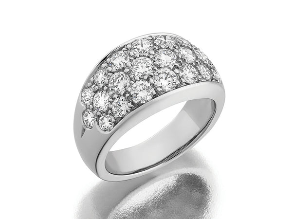 Platinum Pavé Diamond Ring
