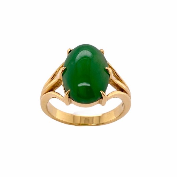 Green Jadeite Ring